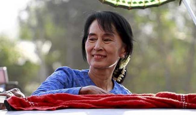 I want to run for president: Suu Kyi