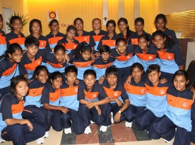 Indian U-16 Women's football team in Dhaka for AFC qualifiers