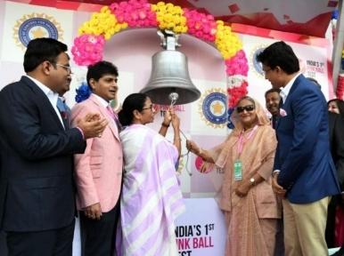 Pink Test: Sheikh Hasina visits Kolkata for eventful day