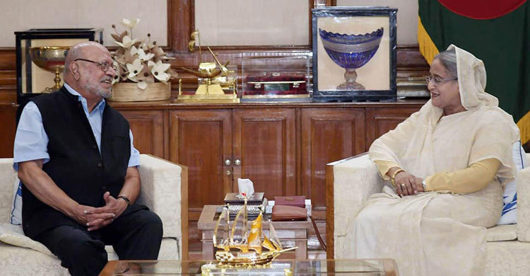 Sheikh Hasina, Benegal discuss on Bangabandhu's movie