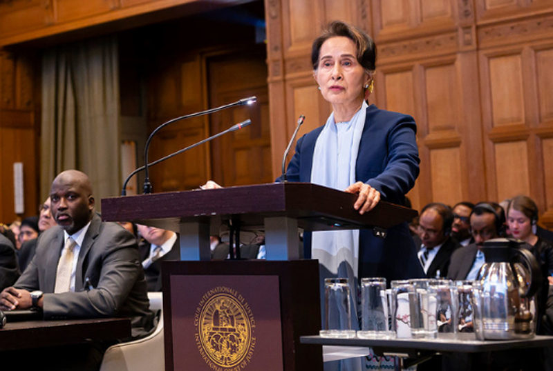 Aung San Suu Kyi defends Myanmar from accusations of genocide, at top UN court