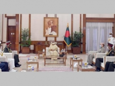 Three Army chief meet Sheikh Hasina