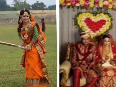Bangladeshi cricketer impresses with her marriage attire look