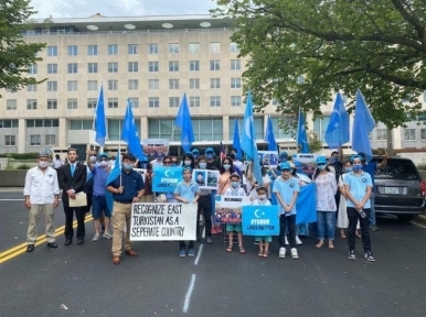 Uyghurs protest in Washington against Chinese persecution