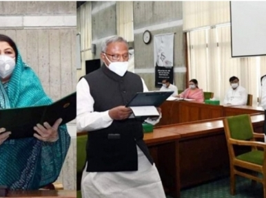 Monirul Islam, Anowar Hossain take oath as MPs