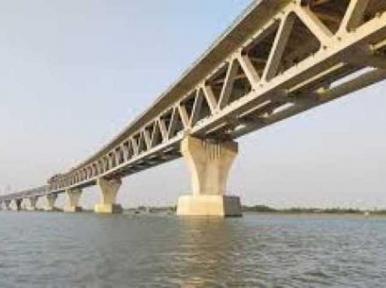 5,250 metres of the Padma bridge now visible
