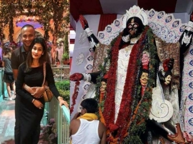Cricket: Shakib Al Hasan inaugurates Kali Pujo pandal in Kolkata