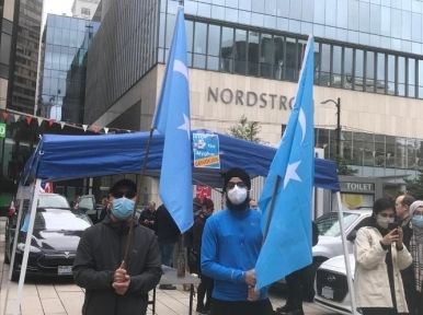 Uyghur repression: Demonstrators protest against China in Vancouver