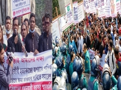 Genocide: Protesters gherao Pakistan embassy, demands apology