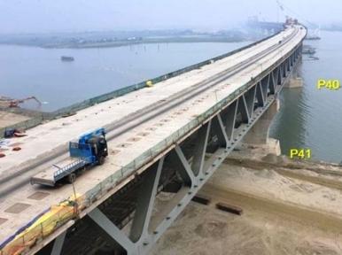 40th span of Padma Bridge laid