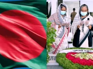 PM Hasina pays her respects to martyrs of August 15 on National Mourning Day