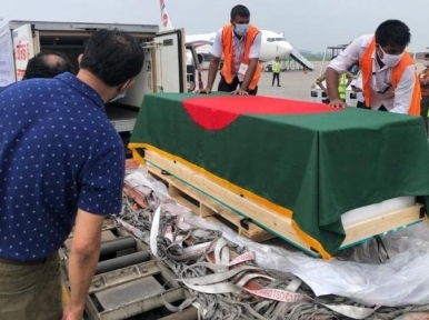 Liberation War hero CR Dutta's body reaches Dhaka