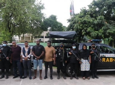 Four Nigerian citizens among five arrested by police in Dhaka