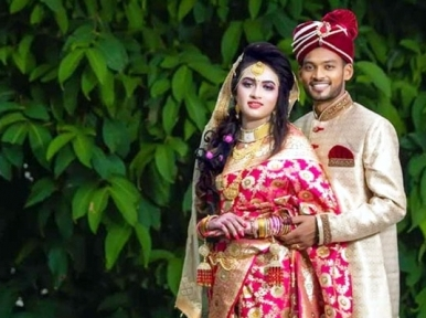 Cricketer Shanto ties knot with girlfriend Ratna amid Covid-19 pandemic