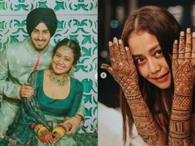 Singer Neha Kakkar shares mehendi pics on Instagram