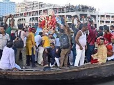 Authorities deny permission of procession during immersion of Durga idols