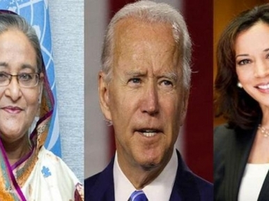 Prez Hamid, PM Hasina congratulate US President elect Joe Biden and deputy Kamala Harris