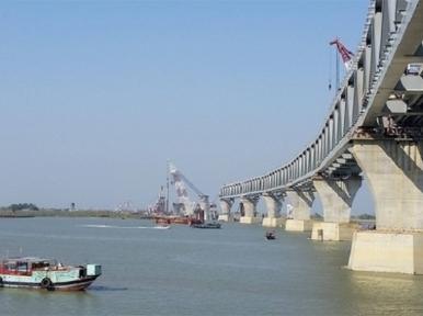 5 kilometres of Padma Bridge visible now