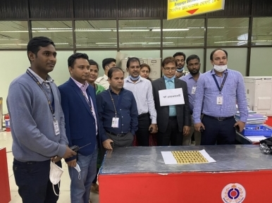 Gold bars worth Tk 5 crore recovered from passenger