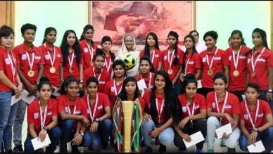 Bangladesh footballers wish Sheikh Hasina on her birthday