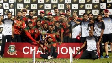 Sumon, Liton perform; Mahmudullah XI lift BCB President's Cup