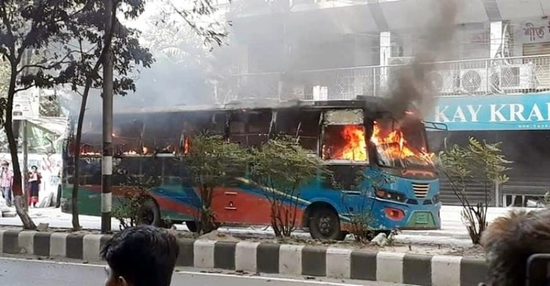 Paltan bus fire: Three, including mastermind, identified