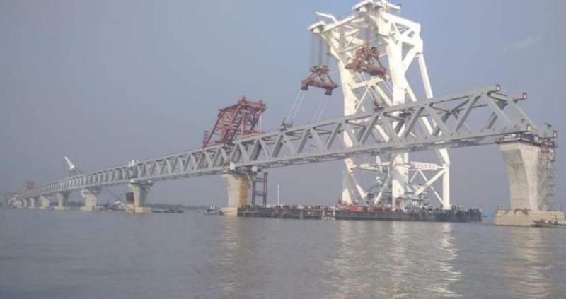 5,700 metres of Padma Bridge visible