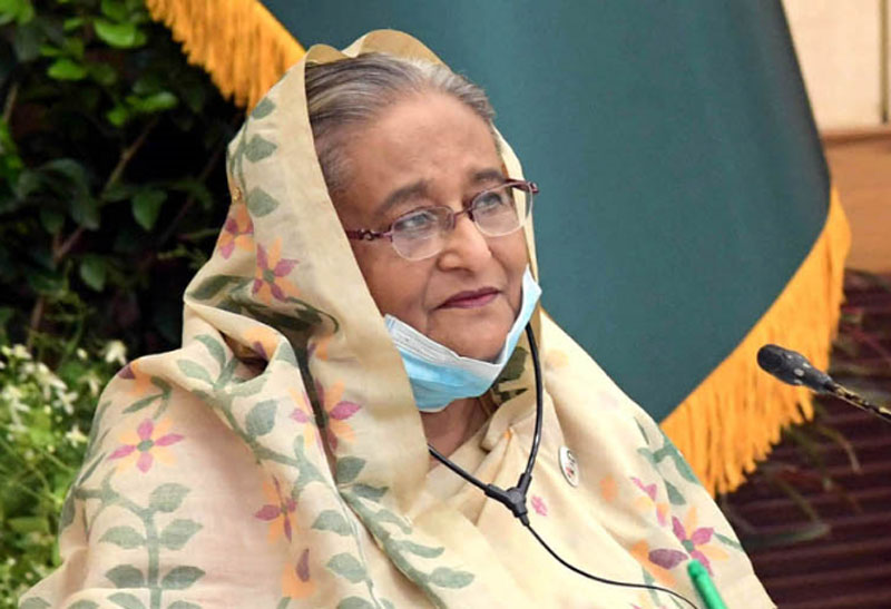 Continue studying from home when the school is shut: PM Hasina appeals