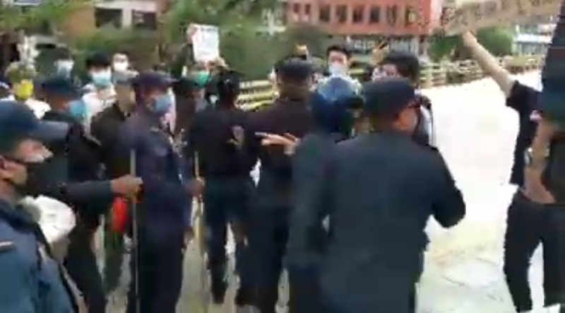 Breaking COVID-19 lockdown norms, Chinese nationals clash with police in Kathmandu