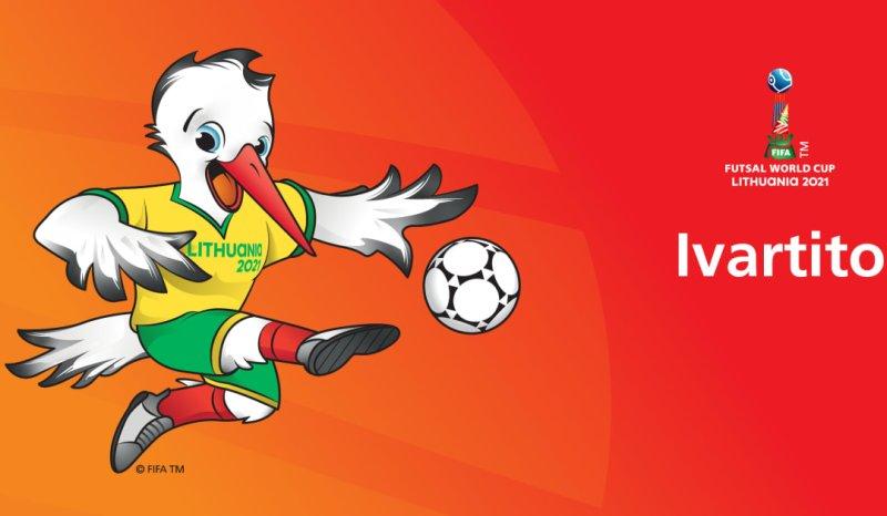 Dancing stork debuts as FIFA Futsal World Cup Lithuania 2021 mascot
