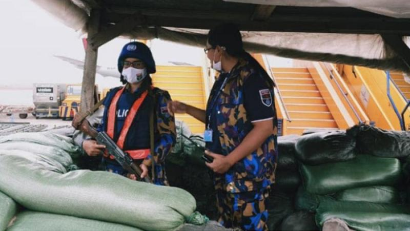 Bangladeshi women peacekeepers in charge of Congo airport security