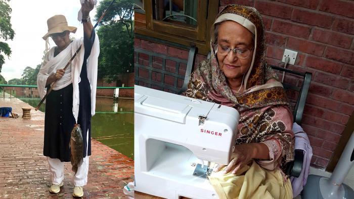 Sheikh Hasina loves sewing, fishing when she gets free time