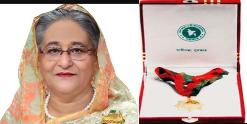 PM Hasina to hand over Independence Award on Thursday