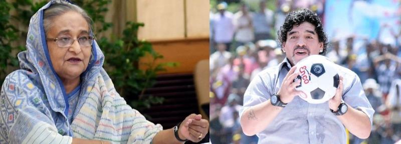PM Hasina condoles the death of legendary footballer Diego Maradona