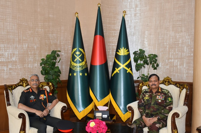 Indian Army Chief in Dhaka on a 5-day visit