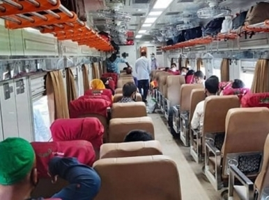 Trains will run with half the seats vacant from April 1