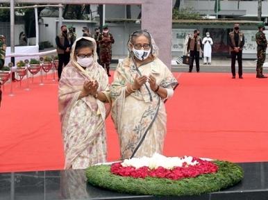 Sheikh Hasina pays homage to Bangabandhu on March 7