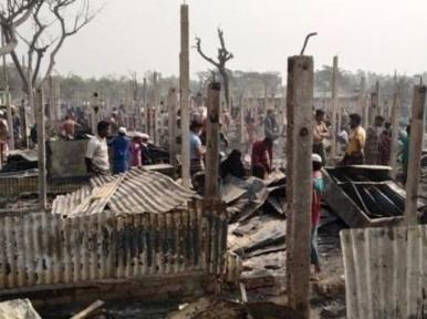Fire guts 500 houses in Teknaf Rohingya camp