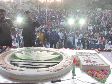 A 78-pound cake to celebrate President Abdul Hamid's 78th birthday