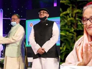 Bangladesh PM Sheikh Hasina presents National Film Award