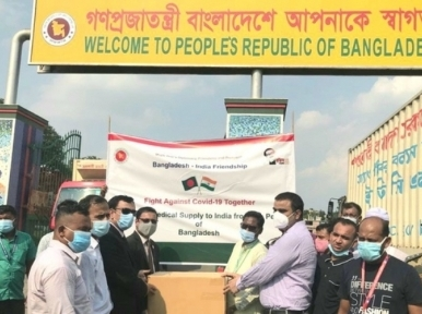 Bangladesh sends second shipment of coronavirus medicines to India