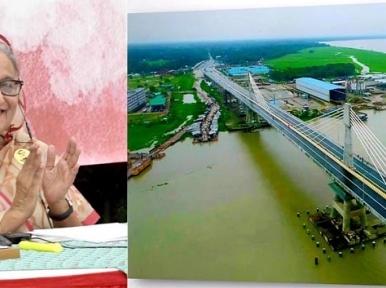 Sheikh Hasina inaugurates Payra Bridge