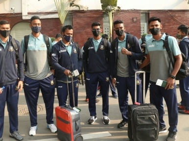 Bangladesh cricket team reach Christchurch for New Zealand tour