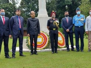 Indian High Commission pays tribute to Chittagong Commonwealth War Cemetery