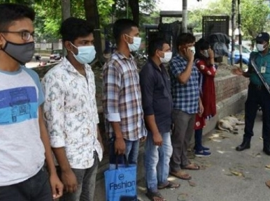 585 arrested on the ninth day of lockdown in Dhaka, fines worth Tk 10 lakh collected