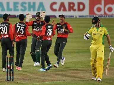 Nasum's 4-fer powers Bangladesh to a win over visiting Australia in first T20I