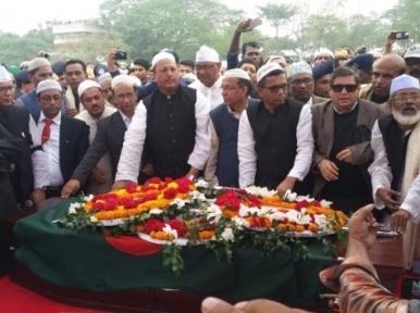 Former Law Minister Abdul Matin Khasru laid to rest