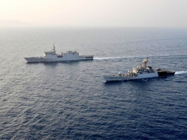 Two Indian ships visit Mongla port on the occasion of Mujib Borsho