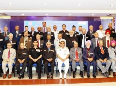 Chief of Navy meets Indian troops who assisted in the War of Liberation