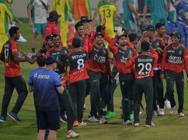 Australia bowled out for 62, its lowest ever T20I score; Bangladesh win series 4-1